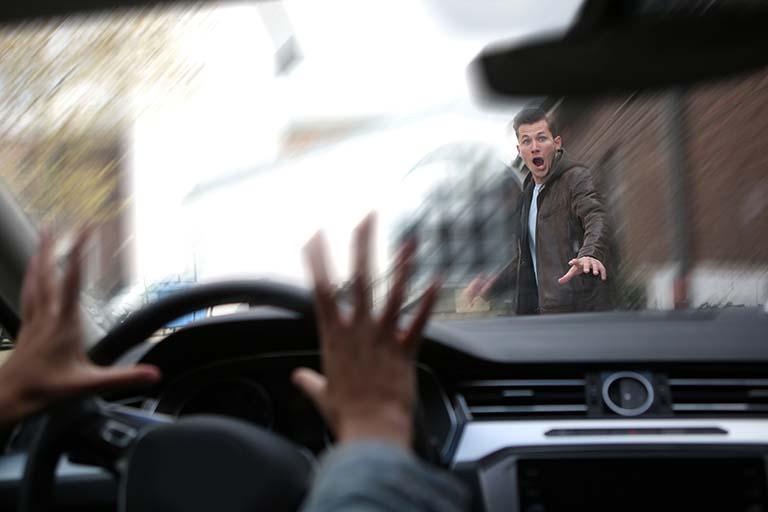 Autounfall mit Fußgänger